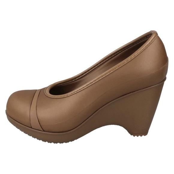 Ladies Crocs Wedge Heel Shoes *Lena*